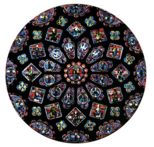 Fenster in der Kathedrale von Chartres